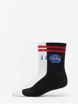 Mister Tee Ponožky NASA Insignia 3-Pack biela