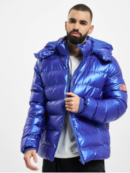 Mister Tee Puffer Jacket Nasa Insignia Metallic blue
