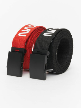 Mister Tee riem NASA Belt 2-Pack Extra Long zwart