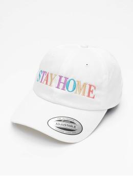 Mister Tee Snapback Cap Stay Home Emb bianco