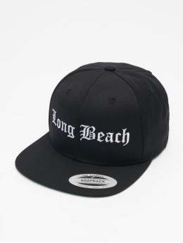 Mister Tee Snapback Cap Long Beach black