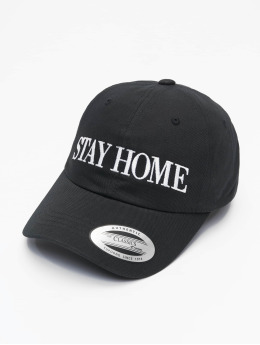 Mister Tee Snapback Cap Stay Home Emb nero