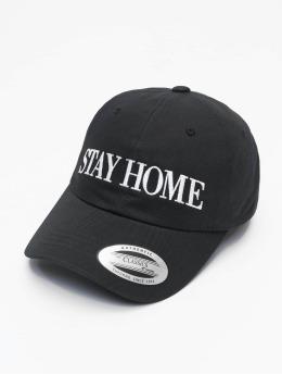 Mister Tee snapback cap Stay Home Emb zwart