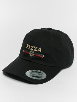 Mister Tee Snapback Caps Pizza Dad čern