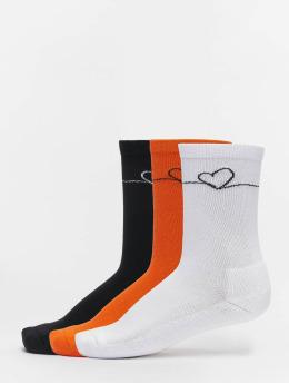 Mister Tee Socks Heart Oneline 3 Pack black