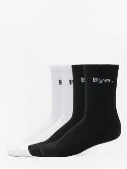 Mister Tee Sokken Hi - Bye 4-Pack  zwart