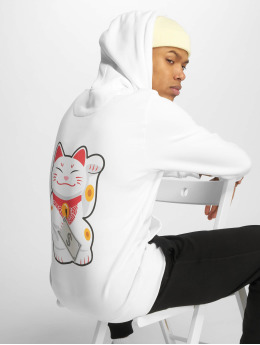 Mister Tee Sudadera Waving Cat blanco