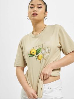 Mister Tee T-paidat Ladies Vitamin C khakiruskea