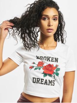 Mister Tee T-paidat Broken Dreams Cropped valkoinen