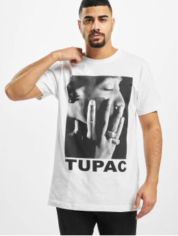 Mister Tee T-paidat Tupac Profile valkoinen