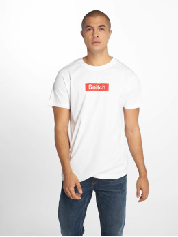 Mister Tee T-shirt Snitch bianco