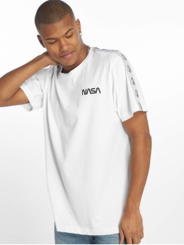 Mister Tee T-Shirt Nasa Rocket Tape blanc