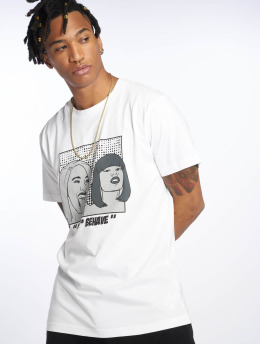 Mister Tee T-Shirt B**** Behave blanc