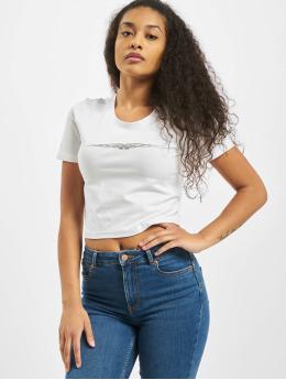 Mister Tee T-Shirt Ladies Tribal Cropped blanc