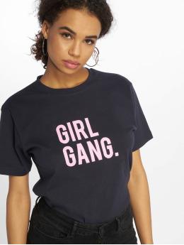 Mister Tee T-Shirt Girl Gang blau