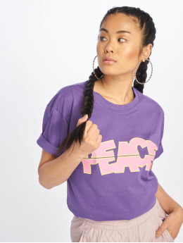 Mister Tee T-shirt long oversize Peace Tall pourpre
