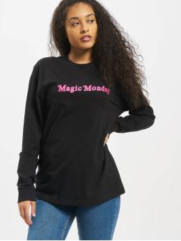 Mister Tee T-Shirt manches longues Ladies Magic Monday Slogan noir