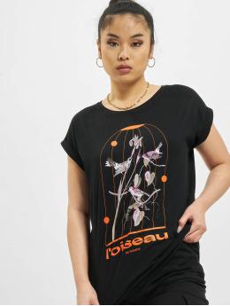 Mister Tee T-shirt Ladies L´oiseau De Paradis nero