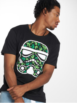 Mister Tee T-Shirt Stormtrooper Leaves noir