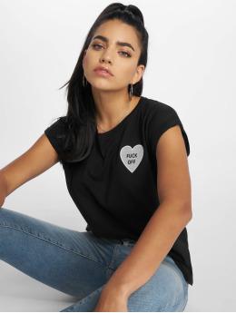 Mister Tee T-Shirt Fuck Off Heart noir