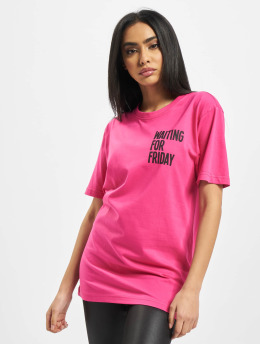 Mister Tee T-shirt Ladies Waiting For Friday rosa