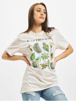 Mister Tee T-Shirt Ladies Bali Tropical  rosa