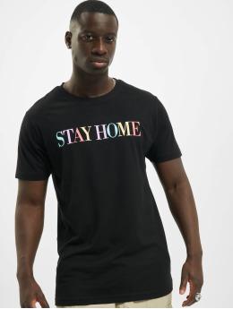 Mister Tee T-Shirt Unisex Stay Home Wording schwarz