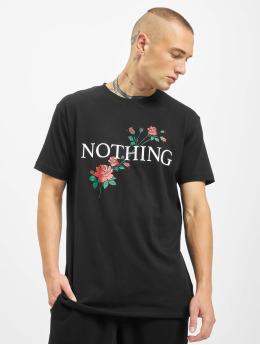Mister Tee T-shirt Nothing Rose svart