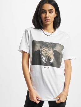 Mister Tee T-Shirt Ladies Trust white