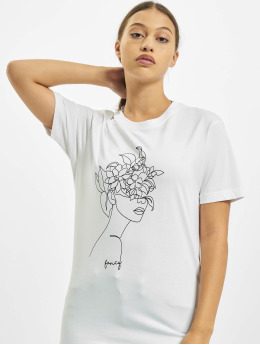 Mister Tee t-shirt One Line Fruit wit