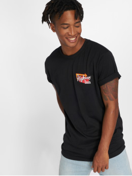 Mister Tee t-shirt Highway Inn zwart