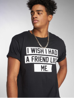 Mister Tee t-shirt Friend Like Me zwart