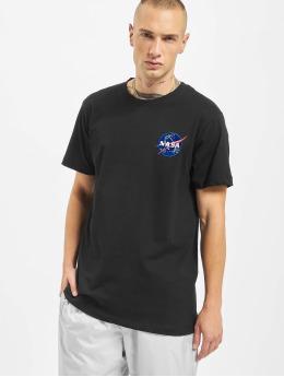 Mister Tee t-shirt Nasa Logo Embroidery zwart
