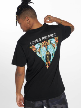 Mister Tee t-shirt Love & Respect zwart