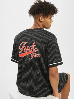 Mister Tee t-shirt Fuckyou Baseball Mesh zwart