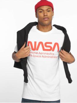 Mister Tee T-shirts Nasa Wormlogo hvid