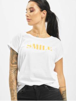 Mister Tee T-shirts Smile hvid