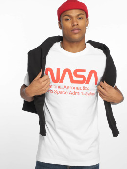 Mister Tee T-Shirty Nasa Wormlogo bialy