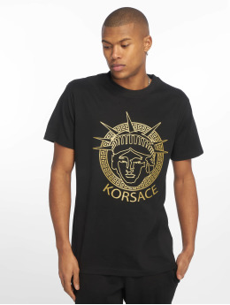 Mister Tee T-Shirty Korsace czarny