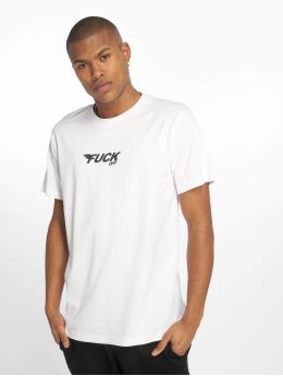 Mister Tee T-skjorter Fuck Off hvit