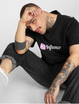 Mister Tee T-skjorter Bad Influencer svart