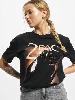 Mister Tee T-skjorter Ladies Tupac Me Against The World Cover svart
