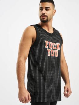 Mister Tee Tank Tops Fuckyou Basketball schwarz