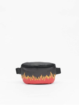 Mister Tee Tasche Flame Print Leather Imitation schwarz