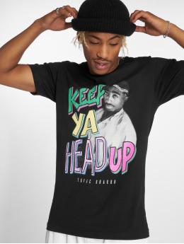 Mister Tee Tričká Tupac Keep Ya Head Up èierna