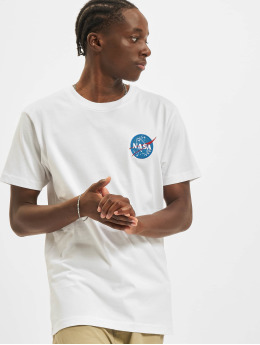 Mister Tee Trika Nasa Logo Embroidery bílý