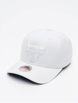 Mitchell & Ness Casquette Snapback & Strapback White Out Stretch Chicago Bulls blanc