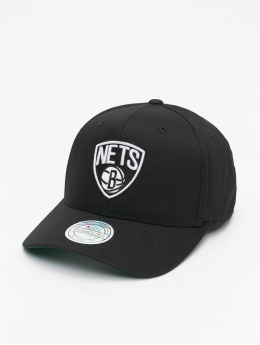 Mitchell & Ness Snapback Cap NBA Team Brooklyn Nets Logo High Crown 6 Panel 110 black