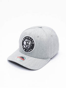 Mitchell & Ness Snapback Cap Team Heather Brooklyn Nets Stretch  grau