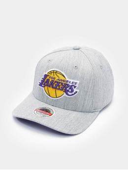 Mitchell & Ness Snapback Cap Team Heather Stretch Los Angeles Lakers grau